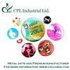 round button tin badge