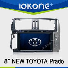 8 inch 2din touch screen car dvd built-in gps /bluetooth/ am/fm radio/tv for toyota prado