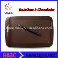 La venta caliente!!! Ugee color chocolate niños tableta de dibujo( rainbow3c) 2048 con nivel de sensibilidad de presión dispositivo de la pc