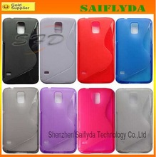 Hot Selling Transparent TPU Back Case for Samsung Galaxy s5