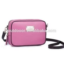 High-end Cross Texture Single Shoulder leather Bag (Magenta)