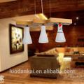 Lámpara de madera para hogar, iluminación decorativa moderna