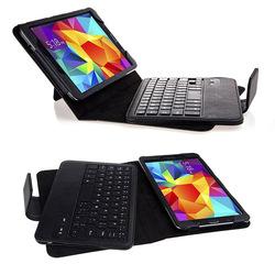 Wireless bluetooth keyboard leather case for samsung galaxy tab 4 8.0