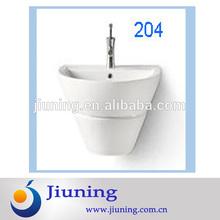 2014 new product half semi wall hung wash basin in bathroom made in China