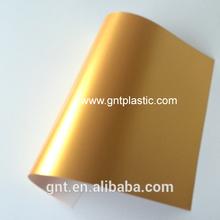 Golden inkjet plastic sheet for laminating