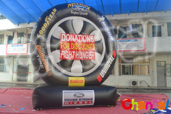 Good sale inflatable tire advertising,inflatable tire balloon,inflatable toy tire