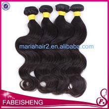 European virgin human hair body wave color black nature russian hair