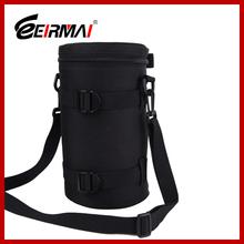 Black Camera Lens Bag Case for Nikon Canon DSLR Lens waterproof pouch for camera