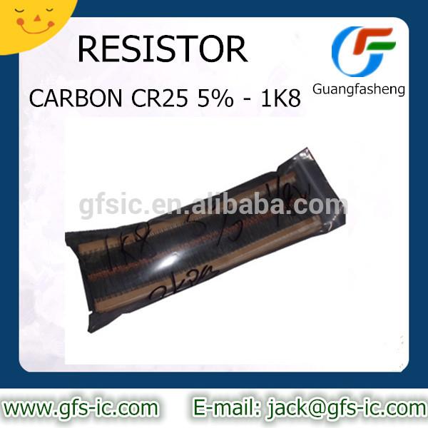RESISTOR CARBON CR25 5% 1K8