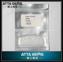 Korean round white cubic zirconia 1.3mm diamond