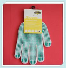 Great protectiv impact pvc dot cotton glovess