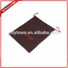 Brown Knitting Drawstring Bag Printing Logo
