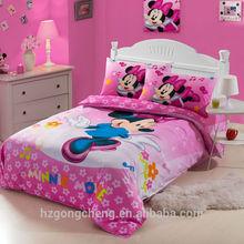 Beautiful Children Fairy Bedding Set 3pcs, Quilt Cover, Bed Sheet, Pillow Case, Minnie Mouse Design