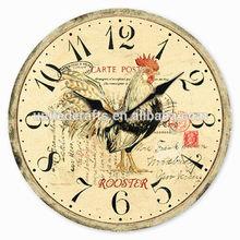 Wholesale MDF Wall Clock,Cheap Antique Wooden Wall Clock