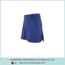 100% Cotton Nevy Color Soft Sexy Girls Short Skirt For Golf