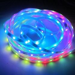 DC 5v 5050rgb professional led strip lighting, ws2812b, ip67 waterproof, 10mm white pcb, 30ic/m, CE RoHs compliant