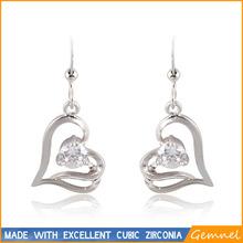 latest trends earrings heart shaped