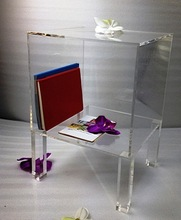 Acrylic Night Stand with Shelf 2091407204