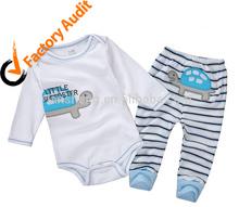 Unisex Infant Romper with Leggings, Applique New Born Wear Sets