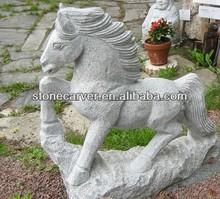Hot Sale Ornament Granite Stone Horse Garden Statues