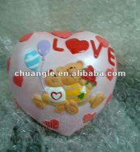 Cartoon Love Item, Poly Bear Model, Resin Souvenir Handicraft