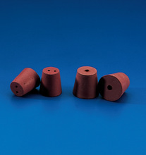 Rubber stopper for test tube bottle container solid with one two holes diameter 15mm