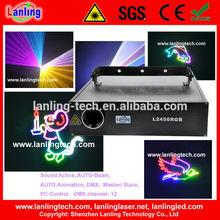 2W Multi Color Ilda animation laser stage light
