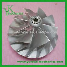 Aluminum turbo turbine impeller, centrifugal impeller fans, precision pump impeller