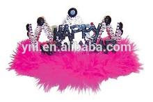 Flashing Silvery Happy New Year Tiara