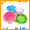 Wholesale FDA LFGB Standard Food grade Silicone Pet Dog portable bowl