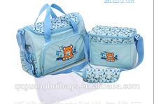 2014 new product 3 piece 1 set diaper bags bear graphic diaper bag cheap promotion diaper bag