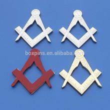 Masonic Master Mason Cut out Car Emblem Silver Gold Tone