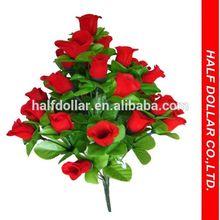 30pcs Plastic Red Artificial Flower/ Artificial Rose