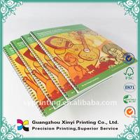 Spiral binding hardcover coupon book printing print on demand books