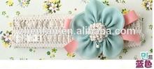 blue flower chiffon baby headwear