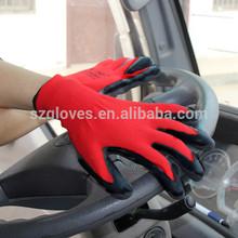 13G nylon super grip orange latex coated glove latex work glove