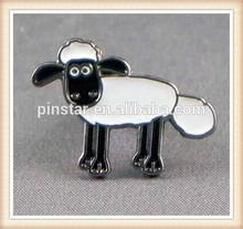 2014 New Custom Metal Hotsale Sheep pin badge. Shaun Cartoon Animal Lapel Pin Badge series. Lamb