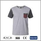 high quality new bulk wholesale gray men plain t-shirt.blank t-shirt.cotton t-shirt. with pocket