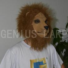 Full head latex lion mask