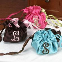 Satin embroidery gift bag
