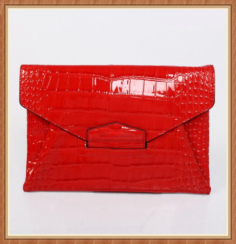 2014แบรนด์ชื่อของแท้กระเป๋าคลัทช์หนังกระเป๋าซองออกแบบ
