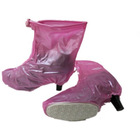 Waterproof rain shoe cover with rubber soles