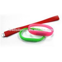 silicone USB bracelet,colorful wristband USB flash memory stick 2.0