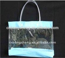 Transparent foldable pvc cheap printed shopping bags