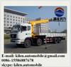 8 tons telescopic boom truck mounted crane