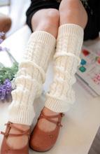 Women slim stocking Knit Crochet Winter Leg Warmer custom knit socks wholesale