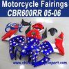 2005 2006 For HONDA CBR600RR ABS Motorcycle Fairing Kit Blue White Red FFKHD008