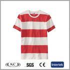 high quality fashion austrilia red stripe tshirts cotton white