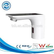 Hot&Sale bathroom chrome plated sensor cream color faucet