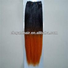 populr AAAAA Two tone color hair weft YAKI straight hair extension